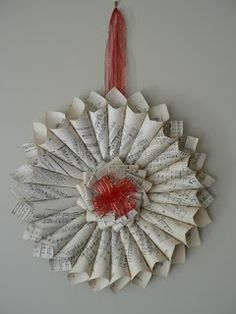 our shabby cottage: Sheet Music Christmas Wreath Tutorial.....