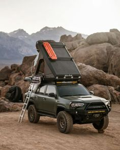 Alu-Cab Gen 3 Expedition Rooftop Tent When rooftop tents first hit the market they were revolutionary, mostly because your tent and mattress (the two things that take up the most packing space) were now conveniently stored on your roof. Truck Bed Tent, Truck Bed Camping, Jeep Camping, Camping Tips, Backpacking Meals, Ultralight Backpacking, Hiking Tips, Hiking Gear, Overland 4runner
