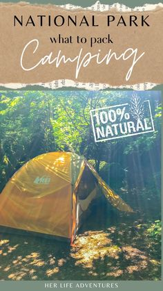 Learn what you should bring for Camping Essentials when staying in National Parks. What to pack for camping - These are important items for your camping checklist: Tent | Sleeping Bag | Sleeping Pad | Camping Pillow | Headlamp| + all other gear essentials for what to bring camping for beginners. Packing List For Travel, Packing Lists, Travel Tips, Travel Articles, Travel Info, Travel Guides, What To Bring Camping, Go Camping, Camping Ideas