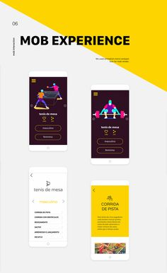 We developed a website with lots of animations and all Olympic sports for project for ZH OURO. The spread of this digital product is to present the medals of the winning countries and a comparison with Brazil the host country of the Olympic Games Rio 201 Olympic Sports, Olympic Games, Mobile App Design, Mobile Ui, Reference Book, Branding, Rio 2016, Ui Ux, Logos