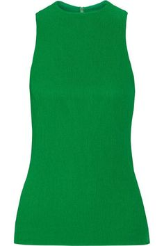 Protagonist - Plissé-crepe Top - Bright green - US10