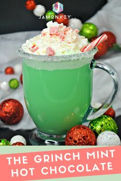 The Grinch Mint Hot Chocolate will warm your heart this holiday season.  #TheGrinch