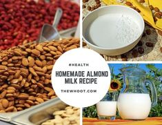 Homemade Almond Milk Recipe Video