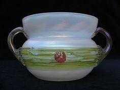 Art Nouveau iridescent glass bowl