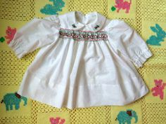 Smocked Holiday Dress 9/12 Months by lishyloo on Etsy