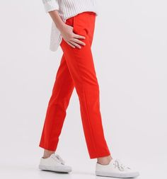 French Fashion for Women Cigarette Trousers, French Fashion, Trousers Women, Pajama Pants, Pajamas, Womens Fashion, Red, Pjs, Sleep Pants