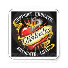 Type 1 Diabetes Awareness Sticker from Zazzle.com