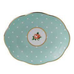 Royal Albert 100 Years Giftware 1930s Polka Rose Tray