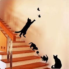 Wall Stickers Cats, Deco Stickers, Kids Room Wall Stickers, Decoration Stickers, Removable Wall Stickers, Butterfly Wall Stickers, Wall Decor Stickers, Room Decorations, Window Stickers