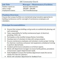 church facilities manager job description - Church Administrative Assistant Salary