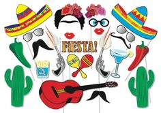 Cinco de Mayo Mexican Fiesta Party Photo booth by TheQuirkyQuail