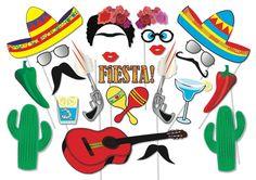 Cinco de Mayo Mexican Fiesta Party Photo booth Props Set - 22 Piece PRINTABLE - Cinco de Mayo, Mexican Party, Fiesta Party