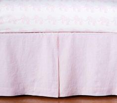 Linen Nursery Bedding - Pink