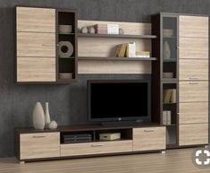 Tv Unit Furniture Design, Modern Home Furniture, Home Living Room, Living Room Decor, Tv Wall Cabinets, Modern Tv Wall Units, Rack Tv, Living Room Tv Unit Designs, Muebles Living