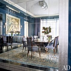 Mirror, mirror. Reflection of a beautiful dining room that I designed along with…