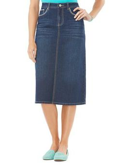Cato Fashions Flap Pocket Denim Skirt #CatoFashions #CatoSummerStyle