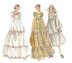 Vintage Vogue Bridal Design Wedding Dress, Bridesmaids Dresses Tiered Skirt Pattern My wedding dress in 1971 Vogue Dress Patterns, Vintage Dress Patterns, Vogue Sewing Patterns, Vintage Dresses, Vintage Outfits, Vintage Sewing, Doll Patterns, 70s Wedding Dress, Wedding Dress Patterns