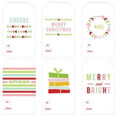 Free Printable Christmas Gift Tags complements of October Ink