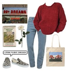 """61"" by ourijimin ❤ liked on Polyvore featuring American Apparel, Marc Jacobs and Vans"