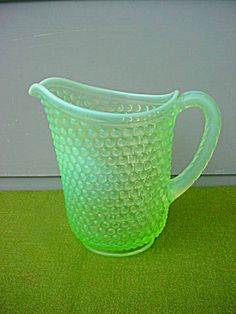 Hobnail Opalescent Water Pitcher
