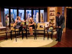 Nashville star, Hayden Panettiere, scared Michael Strahan right out of his seat when she pulled a snake prank on him! Watch to see what happened.  #KellyandMichael