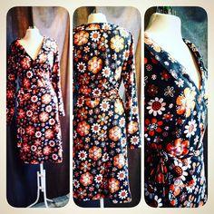 retro dress retrodress jerseydress flowerjersey