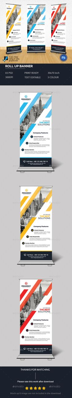 Corporate Roll Up Banner - Signage Print Templates Banner Template, Signage Design, Banner Design, Exhibition Banners, Digital Signage Displays, Roll Up Design, Rollup Banner, Banner Stands, Corporate