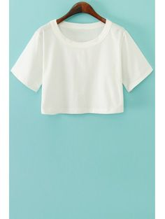 SHARE & Get it FREE | Solid Color Short Sleeve Crop Top - WhiteFor Fashion Lovers only:80,000+ Items • New Arrivals Daily Join Zaful: Get YOUR $50 NOW!