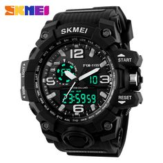 Top Brand Luxury SKMEI Men Digital LED Military Watches Men's Analog Quartz Digital Watch Outdoor Sport Watch Relogio Masculino //Price: $24.95 & FREE Shipping //     #hashtag3