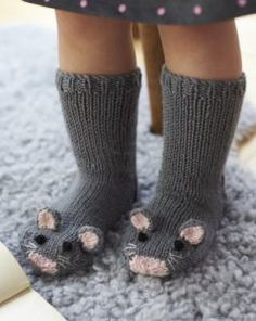 Free Knitting Pattern for Mouse Socks