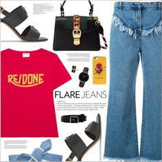 A fashion look from June 2017 featuring RE/DONE t-shirts, Philosophy di Lorenzo Serafini jeans y Valentino sandals. Browse and shop related looks.