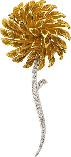 Image of DIAMOND, GOLD BROOCH. ... Estate JewelryBrooches - Pins | Lot #66148 | Heritage Auctions