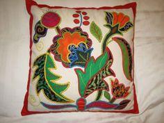 Sri Lanka pillow applique