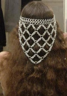 Chain Mail Head Piece for my Renaissance Faire costume