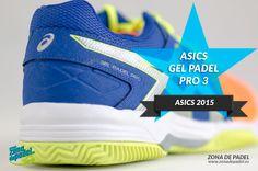 Nuevas zapatillas de #padel #Asics Gel Padel Pro 3, la opción económica con suela clay de Asics para 2015