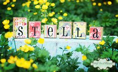 Love these....Custom Name Blocks- Made to match any room and bedding. $35.00, via Etsy.