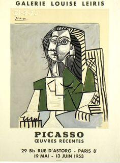 Original Plakate Picasso Original Poster Picasso Affiche original Picasso  title Oeuvres recentes  technology Color lithograph
