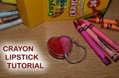 How to make DIY two tone lipstick from crayons and coconut oil
