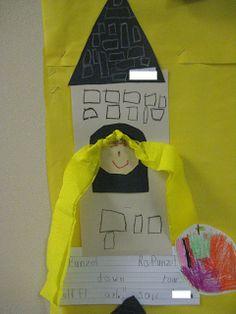 Rapunzel Rapunzel let down your... Preschool Art Projects, Kindergarten Crafts, Craft Activities, Preschool Crafts, Fairy Tale Projects, Fairy Tale Crafts, Fairy Tale Theme, Rapunzel, Traditional Fairy Tales