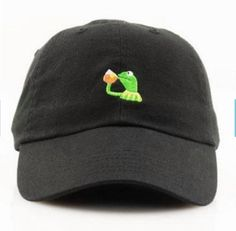 Tea Lizard Kermit None of my Business Strapback Hat Sipping Tea Meme Adjustable Cap Lebron James Championship hat