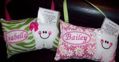 Personalized Tooth Fairy PillowYour Choice by AnniesPillowEmporium, $14.00