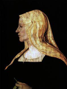 Piero di Cosimo 1462-1522 - also known as Piero di Lorenzo - portrait of a woman, c. 1500
