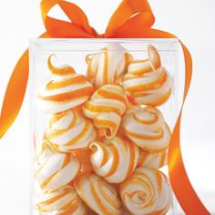 Food editor Kristina Kurek mixed fresh vanilla bean seeds and citrus zest into a meringue cookie. The result -- a sweet, swirly cloud that tastes as good as it looks.