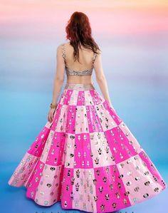 #Lehenga #traditional #festival #handembroidery #akanshagajari Indian Designer Outfits, Designer Dresses, Indian Dresses, Indian Outfits, Navratri Dress, Heavy Dresses, Lehnga Dress, Lahenga, Lehenga Designs