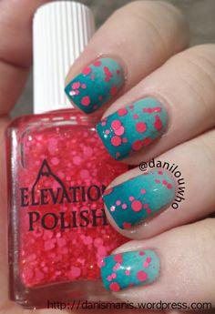 Elevation Polish - Kosciuszko nail art, elev polish
