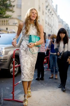 Anna Dello Russo - terrific summer look, and one of Anna's more mainstream outfits