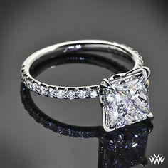 Lotus Princess Diamond Engagement Ring by Leon Mege with 4.01ct Princess