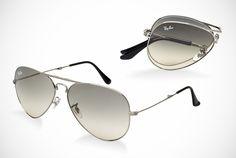 Ray-Ban Folding Aviators Sunglasses