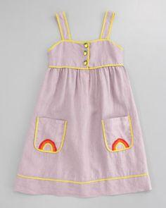 Rainbow-Embroidered Dress