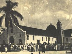 Chamorro people leaving the Dulce Nombre de Maria Church, 1920. The Chamorro population of Guam in 1900 was about 9,000.